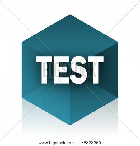 test blue cube icon, modern design web element