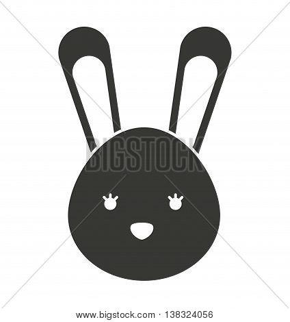 cute rabbit isolated icon design, vector illustration  graphic