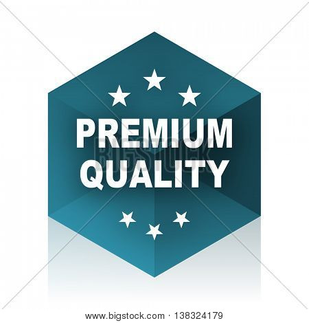 premium quality blue cube icon, modern design web element