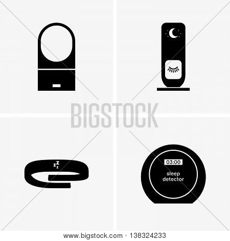 Set of four sleep detectors ( shade pictures )