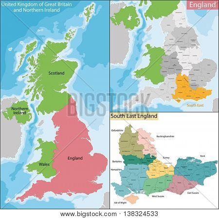Map of South East England