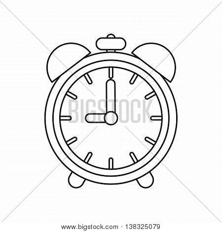 Alarm clock icon in outline style isolated vector illustration