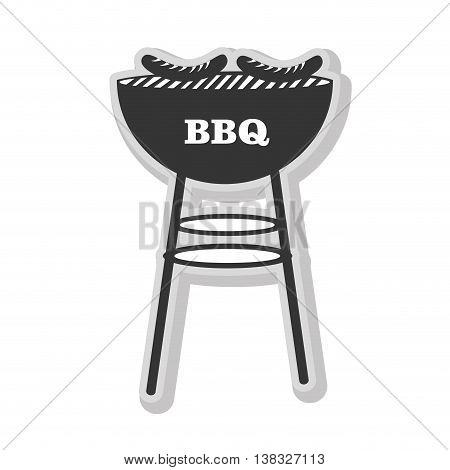 in black and white colors isolated flat icon, vector illustration.