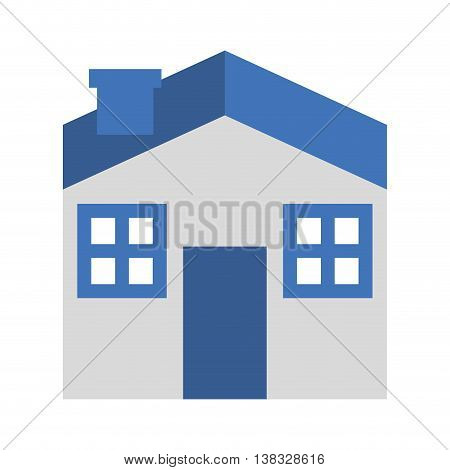 house exterior isolated icon design, vector illustration  graphic