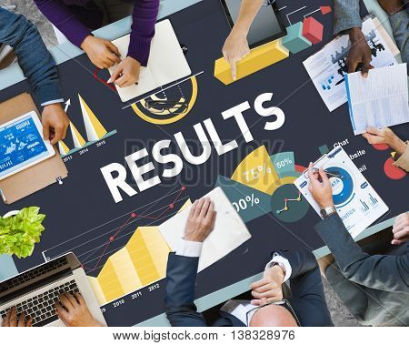 Results Percentage Business Chart Concept
