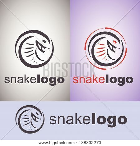snake logo set concept designed in a simple way so it can be use for multiple proposes like logo ,marks ,symbols or icons.