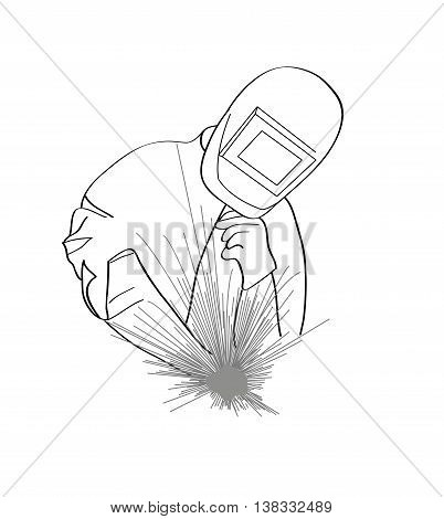 welder icon. insulation in the background. vector illustration