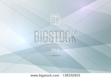 Vector abstract background template with lines and rectangles for business and communication in overlay and polygonal style.