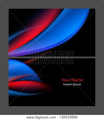 Vector colorful business card template. Elements for design. Eps10 vector illustration