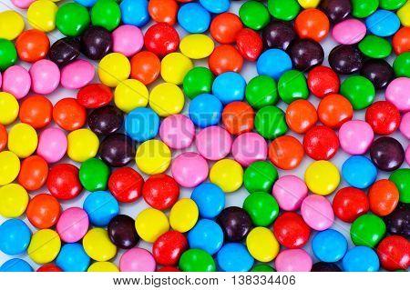 Sweet FullColor Bonbons Candy Background Studio Photo
