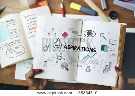 Aspirations Ambition Desire Goals Target Expectation Concept