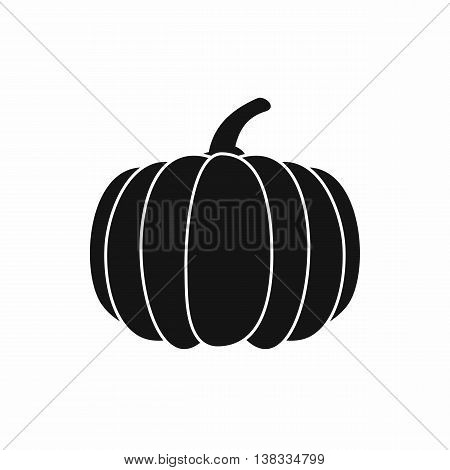 Pumpkin icon in simple style isolated vector illustration