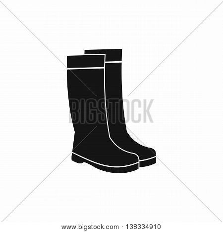 Rubber boots icon in simple style isolated vector illustration