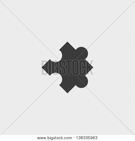 Puzzle icon in a flat design in black color. Vector illustration eps10