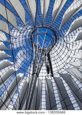 BERLIN GERMANY - JULY 7 2016: famous dome of Potsdamer Platz