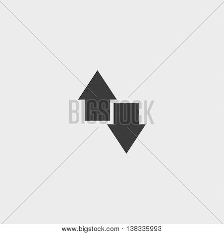 Arrow icon in a flat design in black color. Vector illustration eps10