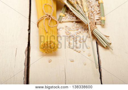 Organic Raw Italian Pasta And Durum Wheat