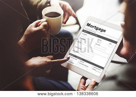 Loan Application Mortgage Money Concept