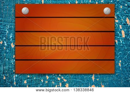Wooden Mock Up Board On Wood Texture With Cracked Paint