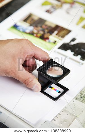 production of a printing advertisement agency analyze