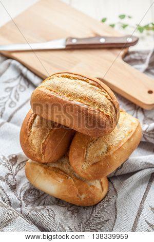 Freshly Baked Crusty Rolls