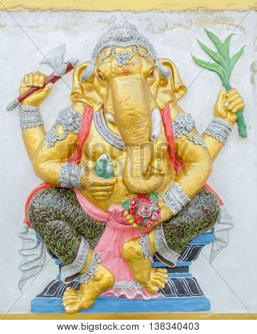 Ganesha Statue,  The Public Is Open To The People Worship. (siddhi Ganapati)