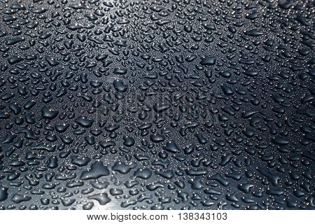 Water drops as the darken background texture