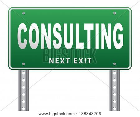 consulting and giving expert advice. 3D illustration, isolated, on white