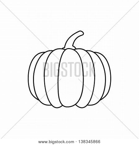 Pumpkin icon in outline style isolated vector illustration