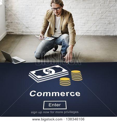 Commerce Exchange Buy Shopping Consumerism Concept
