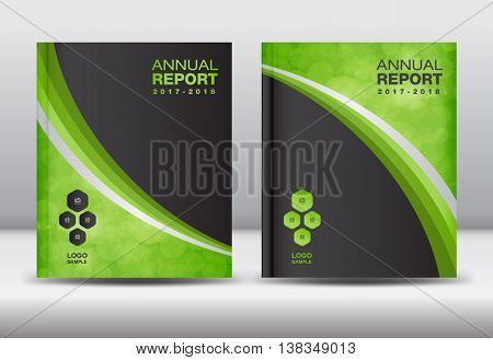 Green Annual report template cover design brochure flyer booklet portfolio Leaflet presentation book catalogs newsletterposter magazine ads