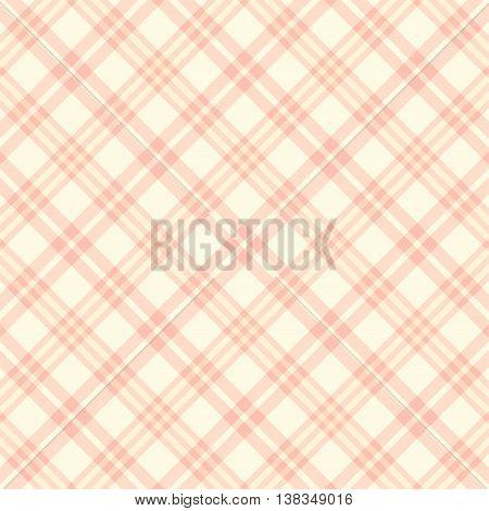 Plaid Seamless pattern, diagonal background. Traditional Beige scottish ornament.Fashion pattern