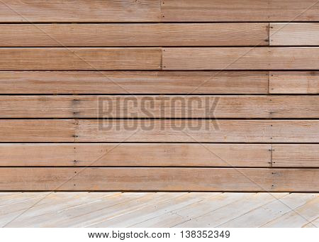 Decking Board Wall Texture intersects diagonally with wooden floor