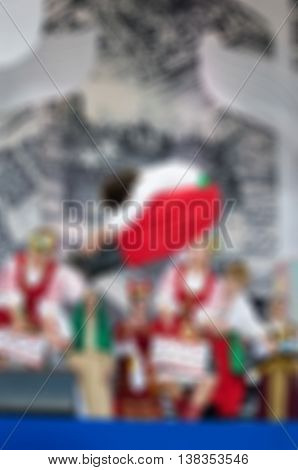 Folk dance concert theme creative abstract blur background with bokeh effect