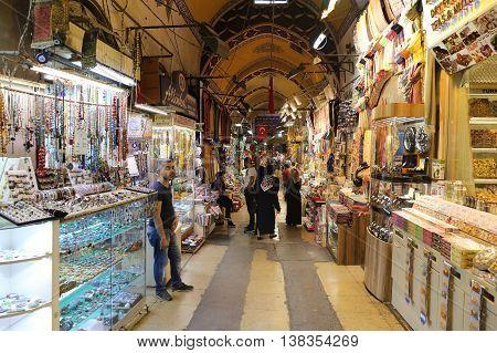 Grand Bazaar In Istanbul City, Turkey