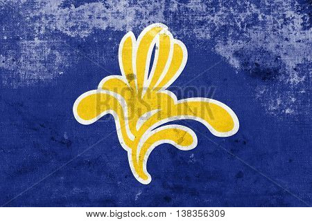 Flag Of Brussels Region, Belgium 1991 - 2015, With A Vintage And