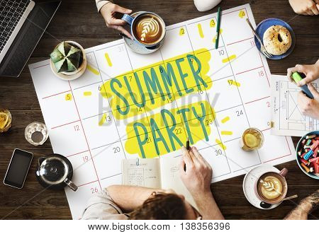 Summer Party Celebration Summertime Beach Concept