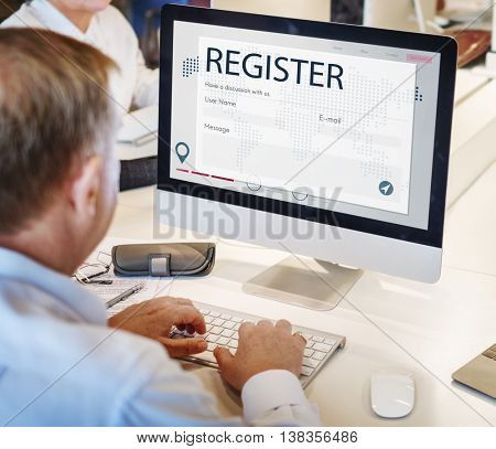 Register Enquiry Online Web Page Concept