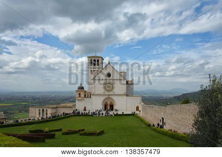a view of assisi in umbria italy