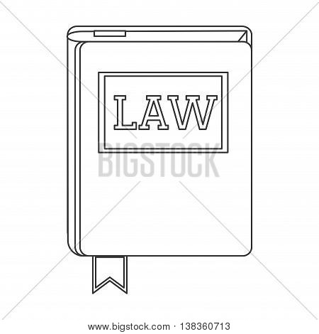 flat design law book icon vector illustration