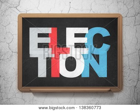 Political concept: Painted multicolor text Election on School board background, 3D Rendering