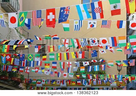 All International Flags Festive Decoration For Streets