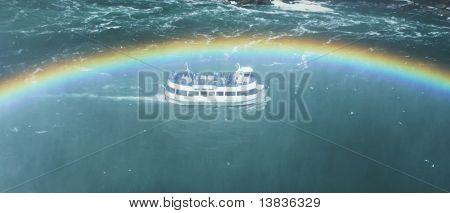 Ship on Niagara waterfall