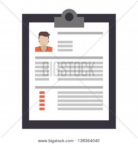 flat design curriculum vitae icon vector illustration