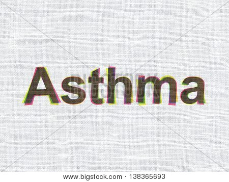 Health concept: CMYK Asthma on linen fabric texture background