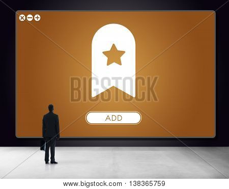 Bookmark Content Web Online Management Concept