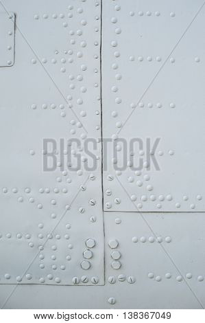 texture light skin of the aircraft with rivets.