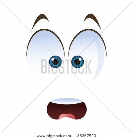 flat design surprised emoticon face icons vector illustration