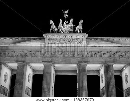Brandenburger Tor In Berlin In Black And White