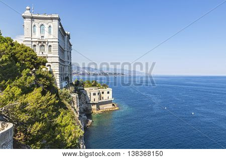 Building Of Oceanographic Museum In Monaco